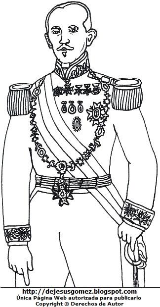 Imagen de Juan José Flores para colorear, pintar e imprimir. Dibujo de Juan José Flores hecho por Jesus Gómez