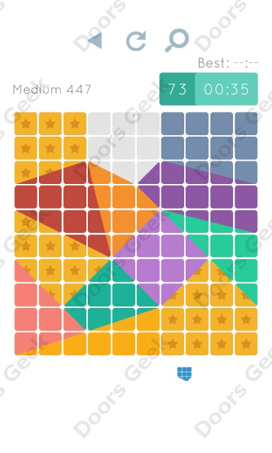 Cheats, Walkthrough for Blocks and Shapes Medium Level 447