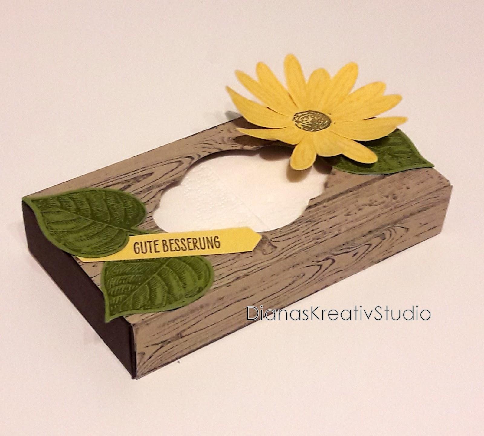 dianaskreativstudio sch nes aus papier taschent cherbox mit blume. Black Bedroom Furniture Sets. Home Design Ideas