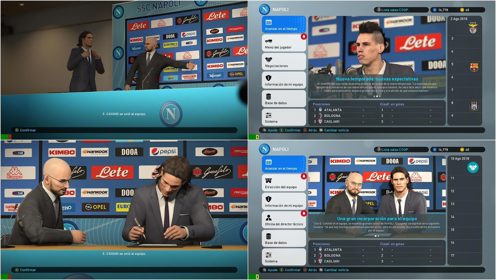 PES 2019 SSC Napoli Press Room by Ivankr Pulquero