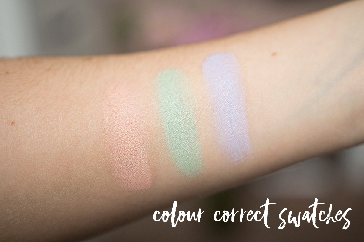 rimmel conceal & correct palette swatches