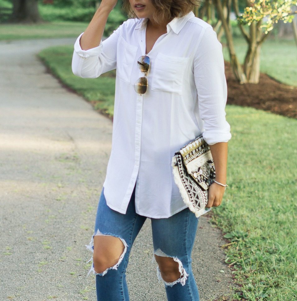 bp twill tunic, nordstrom sale, michael kors weges
