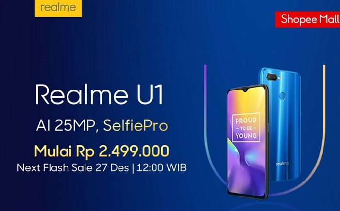Jadwal flash sale Realme U1 di shopee - shopee.co.id