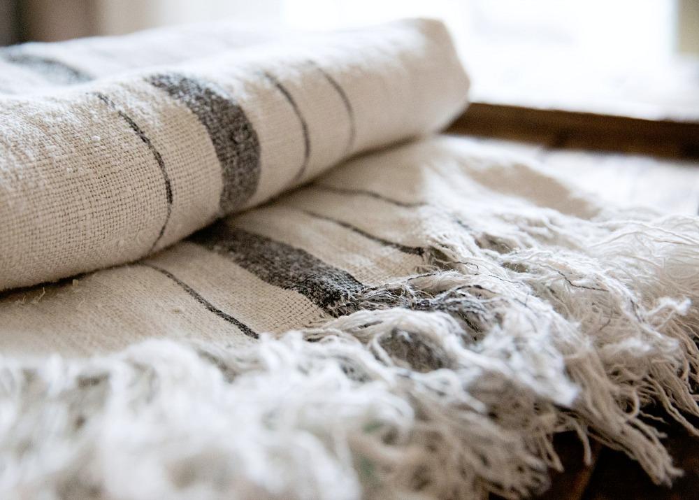 Pellavapyyhe diy kangasväri käsityö itse tehty
