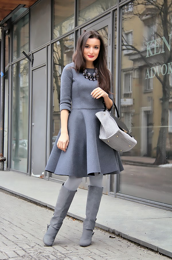 Gray outfit from Desire store