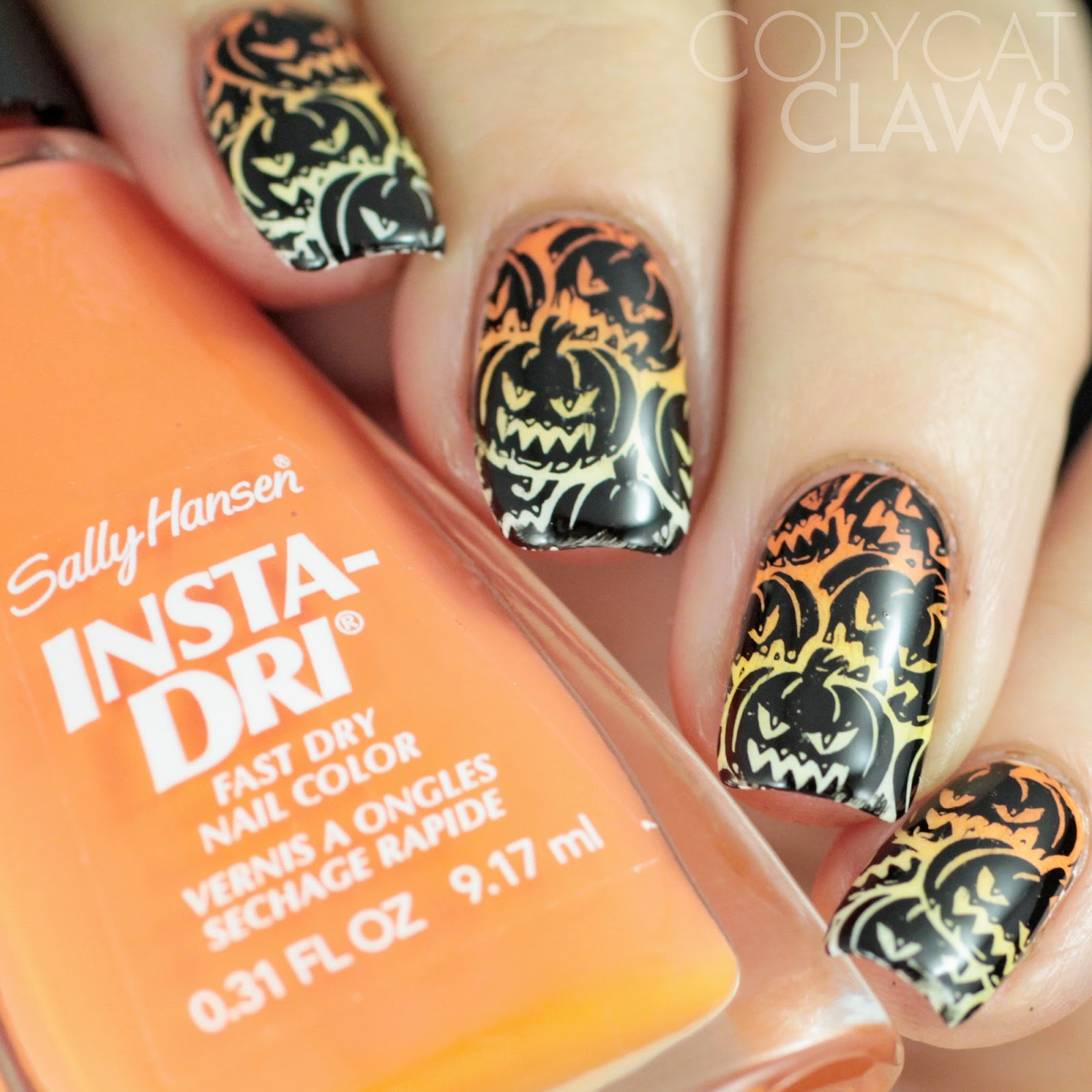 Copycat Claws: Whats Up Nails A012 and B023 Halloween Stamping Plates