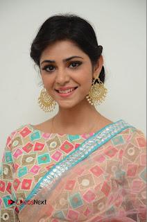 Actress Priyanka Bharadwaj Pictures in Saree at Mister 420 Press Meet  0003.JPG