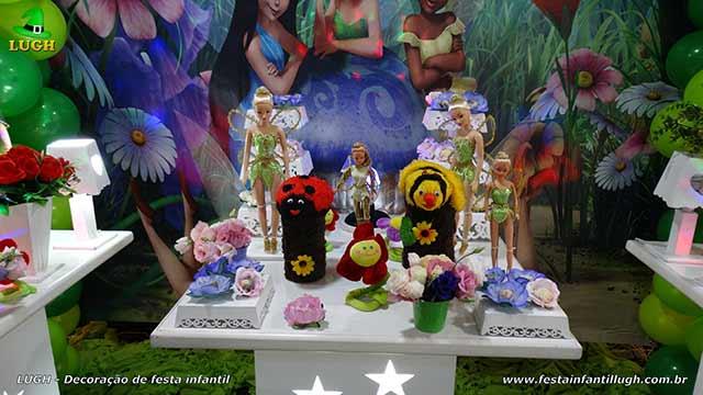Decoração de aniversário tema Tinker Bell - Sininho