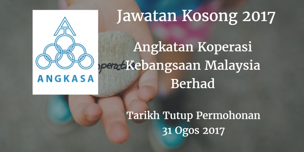 Jawatan Kosong ANGKASA 31 Ogos 2017