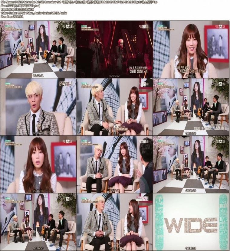 [Show] 140218 Mnet The Music Interview – Taeyeon & Jonghyun