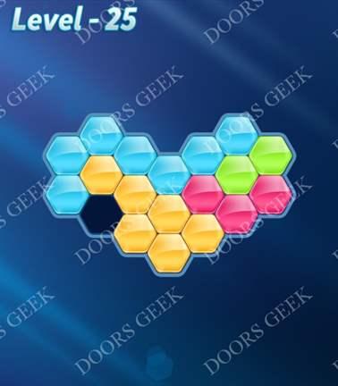 Block! Hexa Puzzle [5 Mania] Level 25 Solution, Cheats, Walkthrough for android, iphone, ipad, ipod