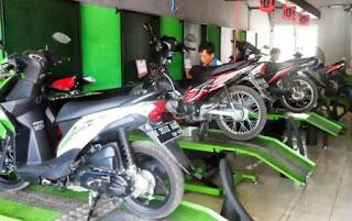 daftar alamat no telepon tempat service sepeda motor di BGR