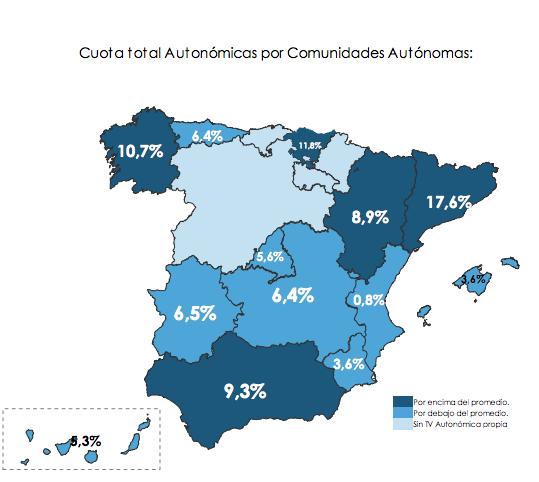 mapa audiencia televisiones autonómicas