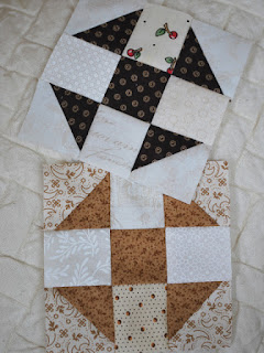 Churn Dash quilt blocks: QuiltBee