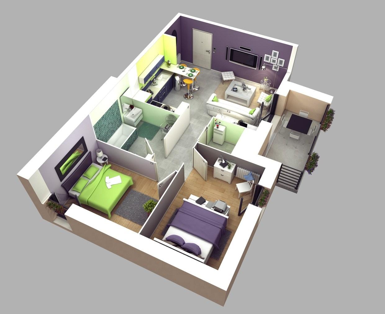 65 Denah 3d Rumah Minimalis Paling Inspiratif Rumahku Unik
