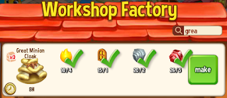 Royal Story, Red Roof, crafting ingredients