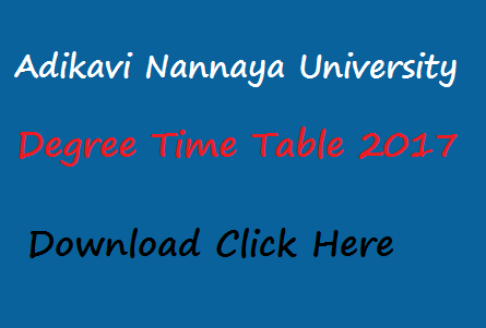 aknu degree time table 2017