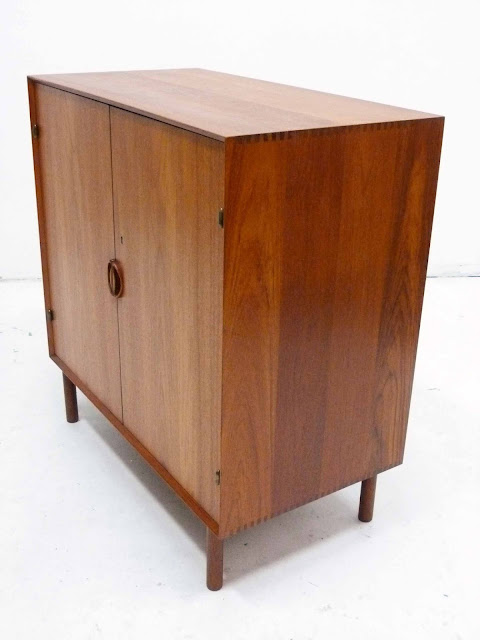 Danish Teak Cabinet by Peter Hivdt & Orla Molgaard Nielsen for Soborg Mobler Left Side Angle