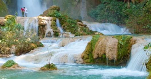 The Kuang Si Waterfall In Laos