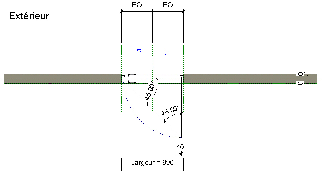 Revit m mo revit 2016 famille porte embrasure variable - Largeur d une porte ...