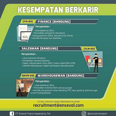 Gaji Karir Lowongan Kerja PT Enseval Putera Megatrading Bandung 2019