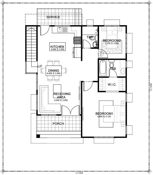 10 bungalow single story modern house with floor plans for Area of a floor plan