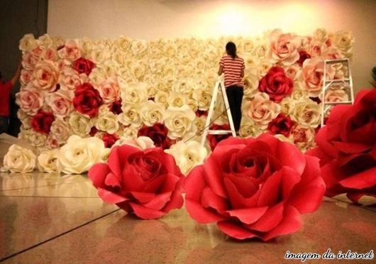ideias de decoração com flor de papel