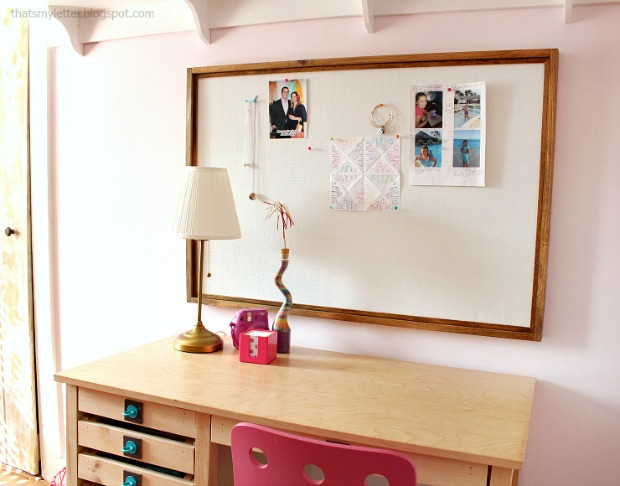diy framed pinboard