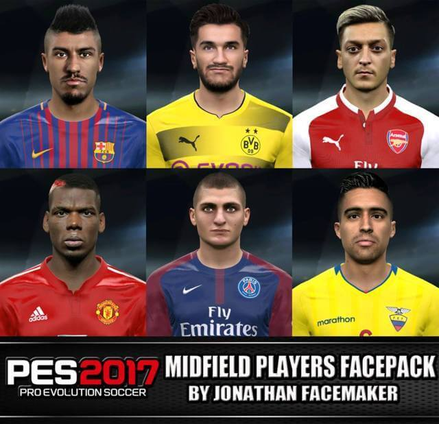 Players Facepack PES 2017