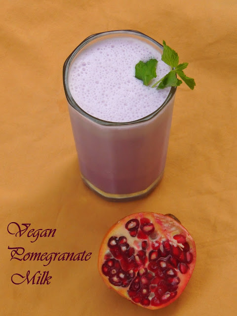 Vegan Pomegranate Milk