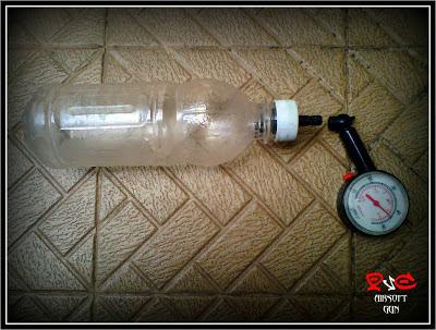 test, botol plastik, kemasan minuman, tekanan udara