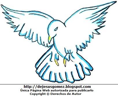 Dibujo de una paloma para niños. Dibujo de paloma hecha por Jesus Gómez