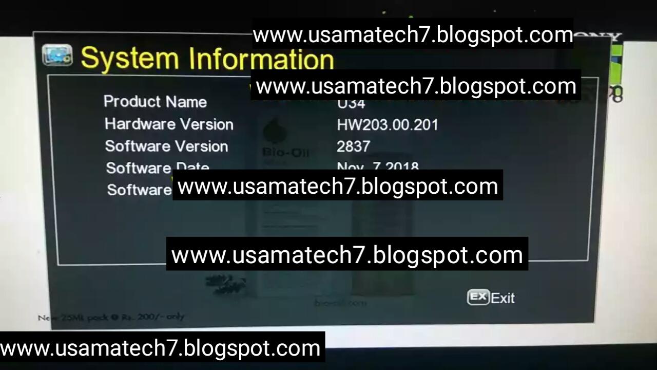 GX6605S H/W HW203 00 201 POWERVU KEY NEW SOFTWARE SONY NETWORK OK