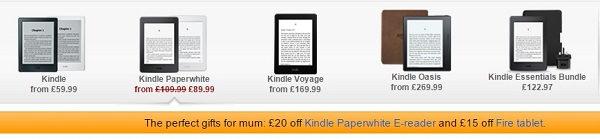 Promocja z okazji Dnia Matki w brytyjskim Amazon - Kindle Paperwhite 3 tańszy o £20