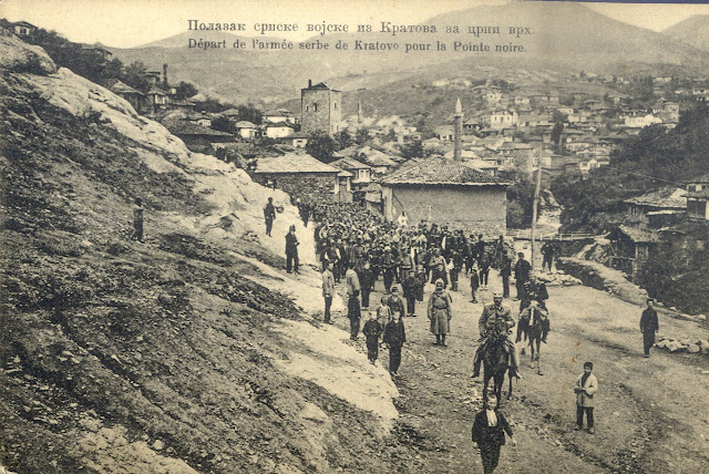 Departure of the Serbian army from Kratovo to Crn Vrv (Black Peak) - First Balkan War