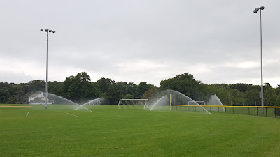 the ball fields at FHS were getting water earlier this week
