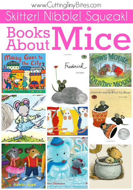 Childrens book list about mice.  Picture book choices for toddlers, preschoolers, and elementary mouse lovers.  Reviews of each book!