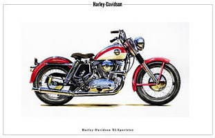 xl sportster 1957 picture red and white