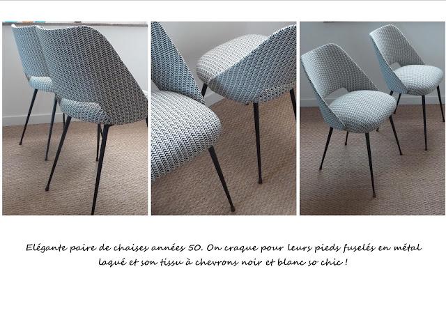 chaises vintage restaurées Guariche