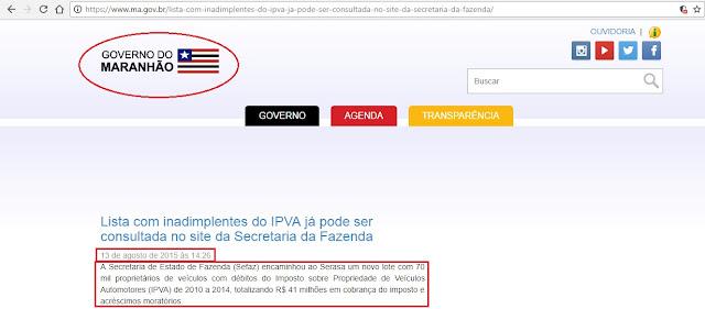 Além de multas, apreensões e leilões, governo Flávio Dino sujou o nome de milhares de maranhenses no SERASA