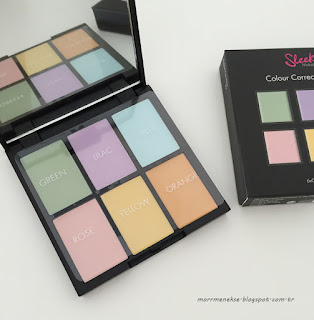 sleek colour corrector palet