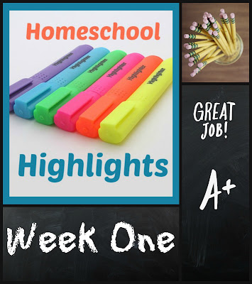 Homeschool Highlights - Week One on Homeschool Coffee Break @ kympossibleblog.blogspot.com