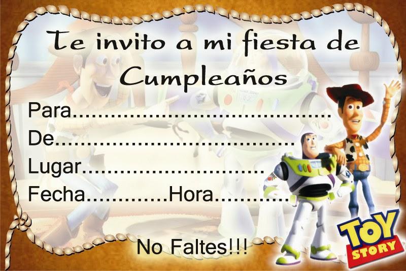 Tarjetas O Invitaciones De Cumpleanos De Toy Story Marcos Gratis