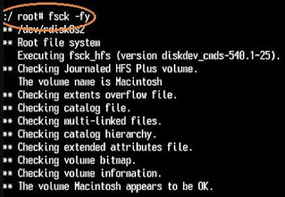 File System Check in SUM in case of Mac boot processes stuck on loading bar