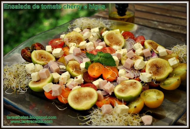 Ensalada de tomate cherry e higos 04