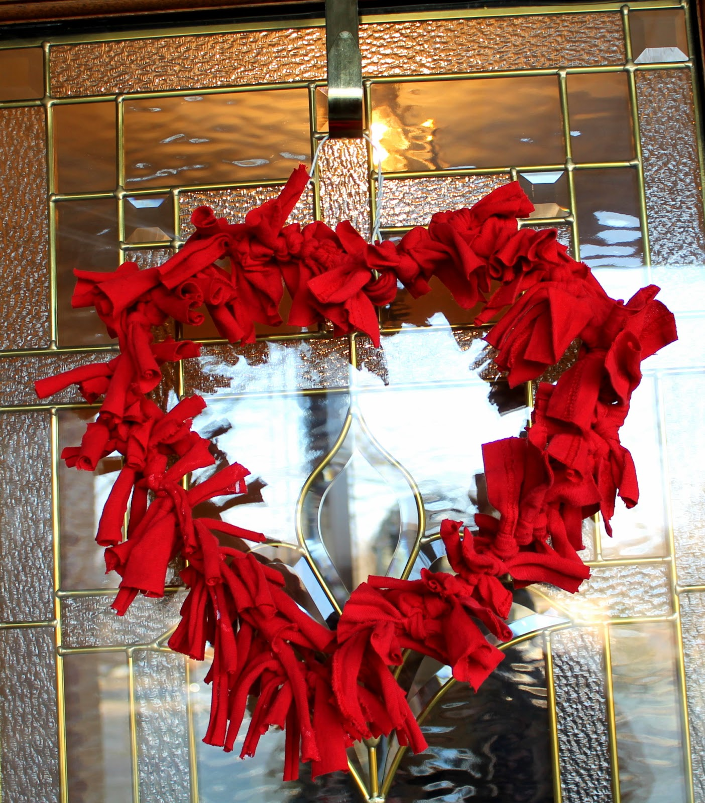 Diy Wreath Hanger Diy Heart Shaped Wreaths From Fabric Scraps Or Old Tees