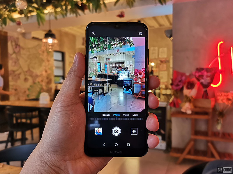 Y6 Pro 2019 camera interface