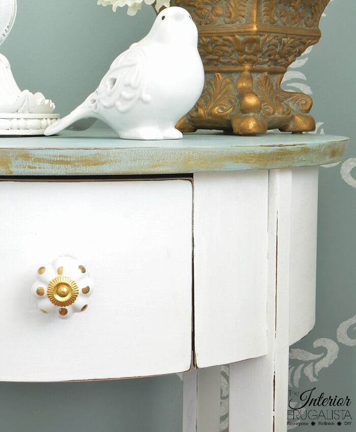 Inexpensive Box Store Table Top Edge Gilded Gold