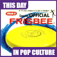 Patent for the Frisbee was issued on December 26, 1967.