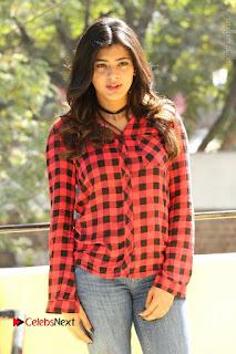 Actress Hebah Patel Stills in Blue Denim Jeans at Nanna Nenu Naa Boyfriends Movie Success Meet  0048.JPG